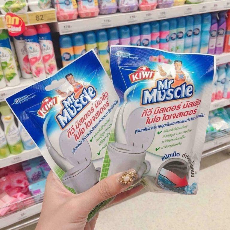 bột thông bồn cầu Mr Muscle Thái Lan