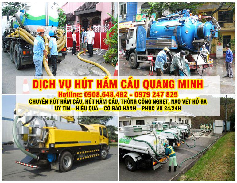 dịch vụ hút hầm cầu Quang Minh